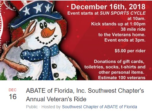Spivey Law Firm Support SW FL ABATE Veterans' Ride