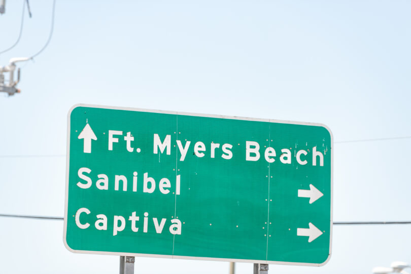 Highway sign for drivers in Fort Myers