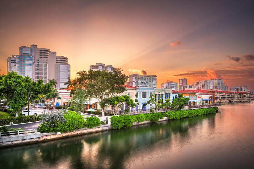Coastal view of Naples, Florida