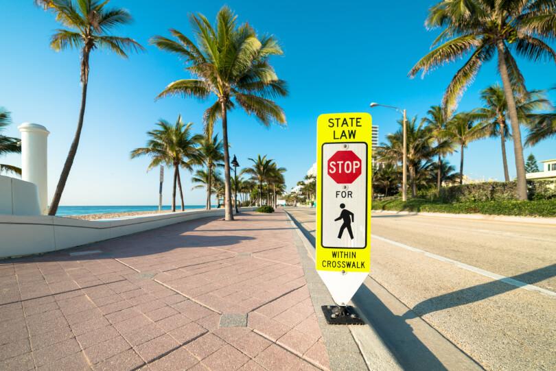 Pedestrian crosswalk in Florida