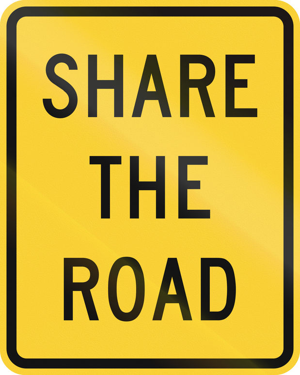 Sharing the Road with Bicyclists, Pedestrians & Motorcyclists