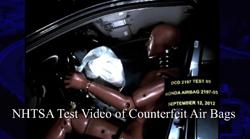 NHTSA Counterfeit Airbags Video Thumbnail