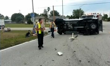 Lehigh Acres FL rollover accident April 2013