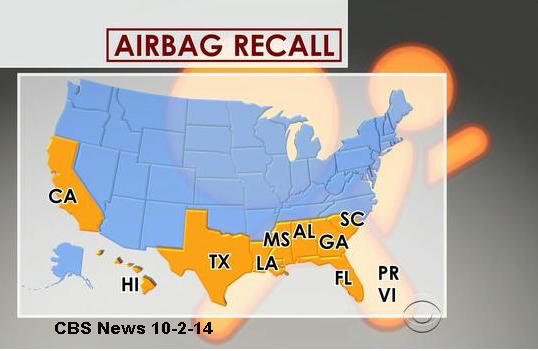 Warnings Issued: Check Your Vehicle for Airbag Recalls - Spivey Law Firm, Personal Injury Attorneys, P.A.
